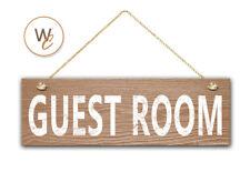 "GUEST ROOM Sign, 5.5"" x 17"" Wood Sign, Rustic Home Decor, Door Sign"