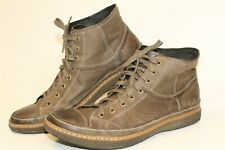John Varvatos Mens 12 M Leather Lace Up Sneaker Boots High Top Chukka F1605M2B
