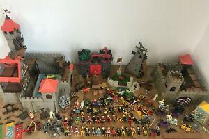 Playmobil Burgen Konvolut 90er Jahre 3666,3667,4440 und weitere Sammlung Kg (8)