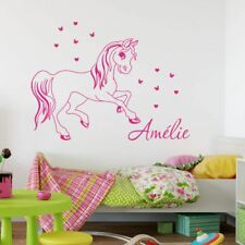 Pony Horse Girls Name PERSONALISED BEDROOM Wall Art Vinyl Decal Sticker V156