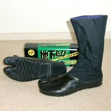 "Japanese Tabi Boots Ninja Shoes Marugo "" Water Resistant "" 12K Black 25 cm"