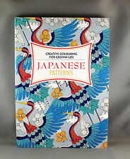 Creative Colouring For Grown-Ups Japanese Patterns  - Brand New