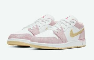 Air Jordan 1 Low SE (GS) Paint Drip Strawberry Ice Cream size 6