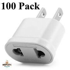 100 Pack Lot of EU Euro Europe to US USA AC Power Plug Converter Adapter Charger