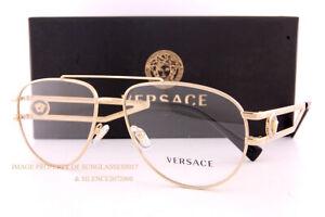 Brand New VERSACE Eyeglass Frames VE 1269 1002 Gold For Men Size 57mm