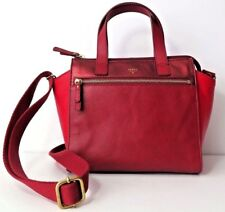 Fossil Tessa Leather Satchel Red Multi SHB1161995 NWT MSRP $198.00