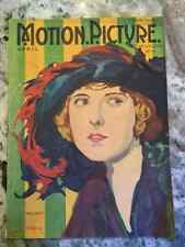 Motion Picture Magazine April 1921 Movie Star Pearl White On Cover