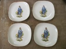 """Set of Four Nelson Porcelain 5"""" Plates.""""Blue Boy"""" Made in England..Gd.Cond"""