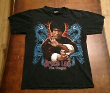 BRUCE LEE THE DRAGON HEAVY METAL ADULT MEDIUM SHIRT 2 SIDED KARATE