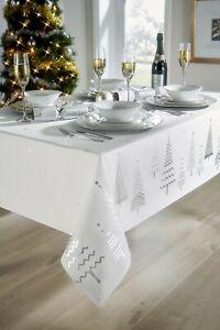 White Christmas Tree Tablecloths Xmas Various Sizes