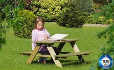 Kinder Picknicktisch Kiefernholz Sitzgruppe Gartenmöbel Picknick 89x89,6x50,8 cm
