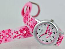 Pallas Kinderarmbanduhr Pink mit Stoffband Armbanduhr Uhr 7171.11.30 Neu