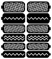 Zigzag Nail Art Vinyl Stencil Guide Sticker Manicure Hollow Template