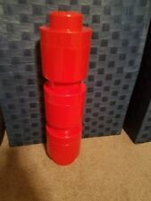 3 Lego Storage Brick Round Red Container- pre-owned