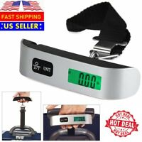110lb 50kg Portable Travel LCD Digital Hanging Luggage Electronic Scale Weight