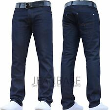 Men/'s Chet Rock LOOSE LARRY Indigo Blue Raw Denim Rockabilly Jeans 34W 34L