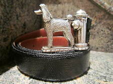 Rare!!! Kieselstein-Cord Sterling Poodle/Fire Hydrant Buckle and Lizard Belt