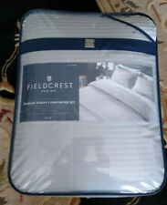 FIELDCREST 500T Damask Comforter QUEEN size HOBSON COLLECTION DOVETAIL GRAY