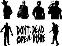 Walking Dead Rick Negan Daryl Governor Zombie Decal Window Bumper Sticker Car