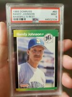 Randy Johnson 1989 Donruss Baseball's Best Card, # 80, PSA Mint 9, Seattle