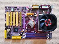 Soltek SL-75FRN3 Motherboard + CPU AMD Athlon