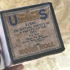 "US Player Word Piano Roll ""I'm Sitting Pretty in a Pretty Little City"" No. 41540"