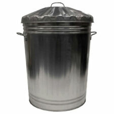 Extra Large 95l Litre Galvanised Metal Bin Rubbish Dustbin Animal Feed Storage