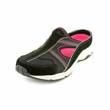 Easy Spirit Womens ARORA Leather Round Toe Slide, Black/Fuchia/Suede, Size 5.5