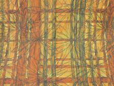 More details for retro orange curtains / crafting fabric, jonelle calypso, 170cm x 203cm long x2