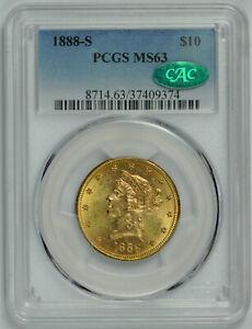 1888 S Gold Liberty Head Eagle MS 63 PCGS *CAC Verified!*