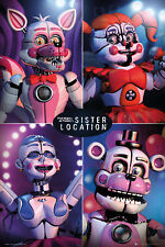 Poster FIVE NIGHTS AT FREDDY`S - Sister Location Quad (Game) 61x91,5cm NEU 59134