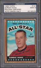 GORDIE HOWE SIGNED TOPPS 1966 RED WINGS CARD #121 PSA/DNA Auto MINT 9