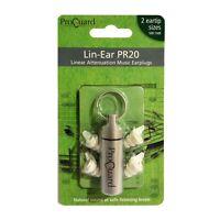 ProGuard Lin-Ear PR20 (ER20) Linear Attenuation Musician Earplugs + Free Case!