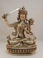 B542 China Wenshu Bodhisattva Buddha Guan Yin Löwen Manjushri H21XB15XT8 1100