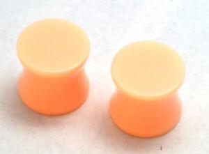 PAIR Flesh Skin Plugs Hide Retainer Ear Gauges 8g 6g 4g 2g 00g 1/2 5/8 3/4 7/8