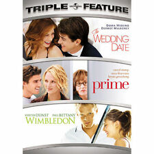 3 FEATURE FILMS, THE WEDDING DATE, PRIME, & WIMBLEDON LIKE NEW IN ORIGINAL DVD