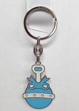 12 Baby Shower metal Keychain rattle party favor blue-llavero sonaja azul