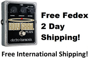 New Electro-Harmonix EHX Holy Grail Plus +  Variable Reverb Guitar Effects Pedal