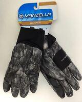 Manzella Traveler Alpha Outdoor Gloves, Women's, Medium, Gray/Black