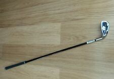 DUNLOP JUNIOR 6 IRON,STAINLESS RIGHT HANDED GOLF CLUB IN BURGUNDY,BLACK & WHITE.