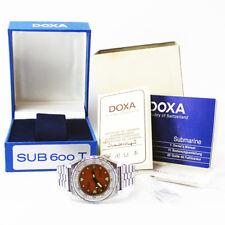 "Conjunto Completo década de 1980 DOXA Ref. 4653 sub 600 T ""divingstar"" Diver Reloj ETA cal. 2872"