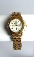 Men's Vintage Gold Seiko Chronograph Water Resist. Watch  #V657-8099 -Very Nice