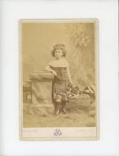 Portrait d'enfant Vintage Print Tirage albuminé  10x14  Circa 1890