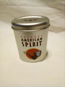 Natural AMERICAN SPIRIT silver cigarette tin holds 20 cigs