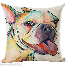 STAFFY/ Staffordshire PIT Bull Terrier DOG LINEN-COTTON CUSHION COVER, GB Sale