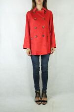 DS DESIGN STUDIO Red Cotton Trench Coat Size