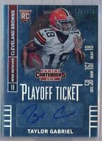 TAYLOR GABRIEL - 2014 Contenders Rookie PLAYOFF Ticket /199 SP - Browns RC