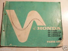HONDA GOLDWING GL1000, LTD,K1,K2 PARTS LIST NO 4 1977 MOTORCYCLE