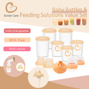 Eonian Care Pump Baby Bottles Breast Feeding Solutions Value Set BPA Free Milk