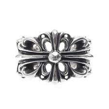 Authentic [Chrome Hearts] DOUBLE FLORAL CROSS RING, All Size Available
